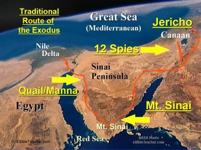 Exodus Major Events Map 1024